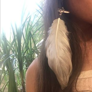 🆕 Feather Crystal Earring